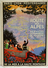CPM REPRODUCTION AFFICHE ANCIENNE / ROUTE DES ALPES / R. BRODERS