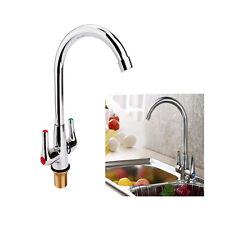 Zweigriff Mischbatterie Wasserhahn Küchenarmatur Spültisch Armatur Küche Chrom