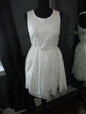 Yumi size 10 white lace dress, wedding, party,vintage, summer, sexy