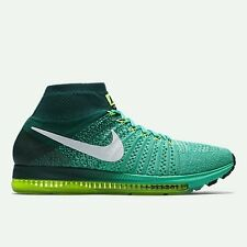 Nike Air Zoom All Out Flyknit UK 7.5 EUR 42 Clear Jade/Midnight Turquoise/Volt
