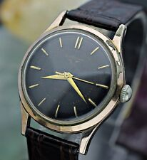 Vintage JEAN RICHARD Automatic Rose Gold Filled Black Dial Men's Dress Watch