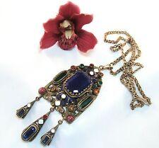 Formschönes Collier Collierkette Gablonzer Email Halsschmuck Halskette / ap 182