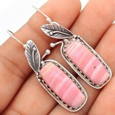 Australian Pink Opal 925 Sterling Silver Earrings Jewelry SE101712