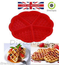 Silicone Waffle HEART Mould Oven Pan Cake Baking Bake Ware Love Valentine
