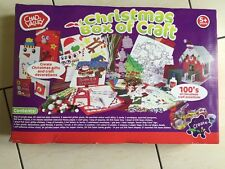 ChadValley.Christmas Box Of Craft.Card.Paper.GlitterGlue.Ink Pad.foam Stamps.New