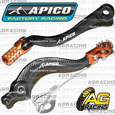 Apico Black Orange Rear Brake Gear Pedal For KTM SX 200 2004 Motocross Enduro
