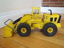 Vintage 1970 Tonka Metal Pressed Steel Tractor Yellow Front End Loader