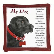 Spice Filled Black Labrador Dog Mug Mat for Tea or Coffee  Aromatic Spice Scent