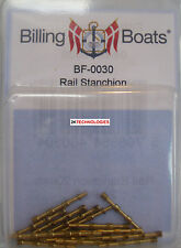 Billing Boats Accessory BF-0030 20mm Handrail Stanchions x 10 Brass New Pack