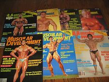 Lot Of 7 Muscular Development Bodybuilding Magazines/1985 COMPLETE YEAR