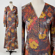 Vintage 1970s LUREX glitter maxi dress HOSTESS DISCO BOHO RETRO
