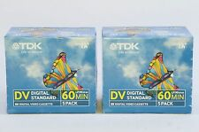 10x TDK Mini DV Blank Camcorder Tapes Pack of 10 SP60 LP90 DVKST60E DVM60