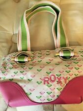 Roxy pocketbook-small pink and white with Roxy logo