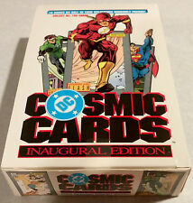 1991 Impel DC Comic Cosmic Cards Wax Pack Box (36) Hall of Fame Hologram Sets