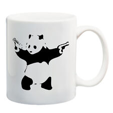 Banksy Graffiti art Armed Panda ceramic mugs coffee Cup tea cup