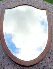 Regency. escudo forma Bordes Biselados Espejo de pared con Satinwood encordado C1810