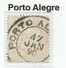 """Il Brasile. 1884. 200R Mauve pink.sg: 75ba. utilizzato """"PORTA Alegro"""" DOUBLE RING Annulla."""