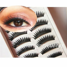 20 Pairs Thick Long Soft Curly Black False Eyelashes Lashes with Applicater Glue