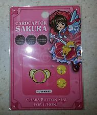 Card Captor Sakura Chara Button Seal Sticker for iPhone Kero Clamp Licensed New