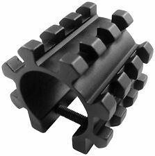 "Tactical Tri Rail Picatinny Mounts For Remington 870 12GA 1"" Shotgun Mag Tube #1"
