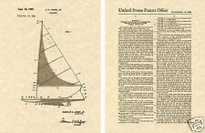 Vintage 1962 SAILBOAT Patent Art Print READY TO FRAME!!! sunfish perfect gift
