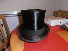 Victorian Wheeler & Company  Black Silk Top Hat size 6 7/8