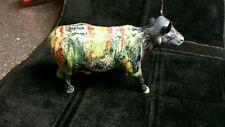 MOONET 2000 Cow Parade porcelain cow figurine Painting- Retired-