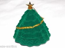 Xmas Gift Box Velvet Tree Stud Earring Necklace Ornament Shaped W. Gold Star