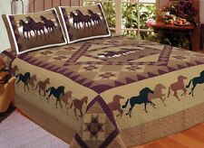Unknown Q4805-Q American Hometex- Horse Country Queen Quilt Set NEW