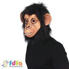 Chimp Planète des Singes complet sur tête masque de latex COSTUME ROBE FANTAISIE HOMME