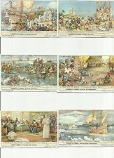 ITALY Liebig trading cards  S1495 F 1503 IL PRIMO GIRO DEL MONDO - THE 1s WORLD