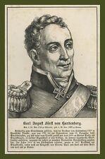 Karl August Fürst von Hardenberg Essenroda Prussia Wigand Lipsia 1857