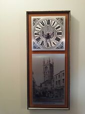 "Rare Vintage Art Deco KIENZLE original wall clock Germany, Cornwall 1829 12""x27"""