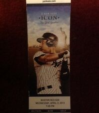 Derek Jeter Icon, 2013 New York Yankees Unused Ticket Stub