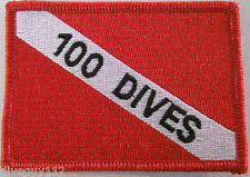 "Scuba Diving Patch Dive Flag Decal ""100 Dives"" BG0076"