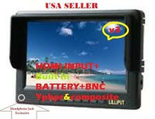 "LILLIPUT 7"" 668GL-NP/H/Y field monitor on HD CAMERA W/HDMI & BNC YPbpr+2 BATTERY"