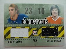 Bob Nystrom Mel Bridgman 2012/13 Combatants Game Jersey Card