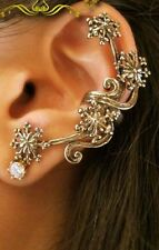 MGCA  1Pc New Charm Vintage Fashion Rhinestone Rose Flower Ear Cuff Stud Earring