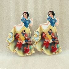 5 x 37MM SNOW WHITE + 7 DWARFS LASER CUT FLAT BACK RESIN BOWS HEADBAND
