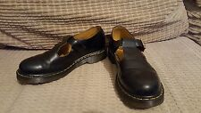 Dr. MARTENS size 6 black MARY jane T Bar buckle strap polley leather