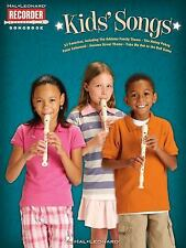 Kids' Songs Hl Recorder Songbook-ExLibrary