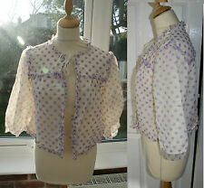 """VTG 50s 60s St Michael Double Layered Nylon Bed Jacket Negligee Robe 40"""" 38"""" 14"""