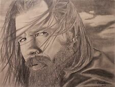 Sons of Anarchy, Ryan Hurst aka Opie Winston drawing, Artist, Pencil, Print