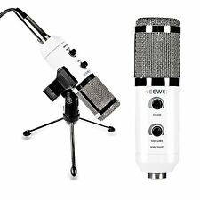 Neewer NW-300E USB Condenser Mic Kit:Clip Holder,Tripod,Cap,Splitter Cable&more