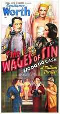 Wages Of Sin 1938 Poster 03 A2 Box Canvas Print