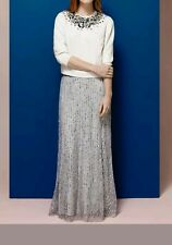COAST * EVIE * SEQUINED GREY MELAN MAXI SKIRT SIZE 8 NEW WITH TAGS