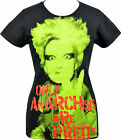 LADIES BLACK T-SHIRT JORDAN ONLY ANARCHISTS ARE PRETTY SEDITIONARIES PUNK S-2XL
