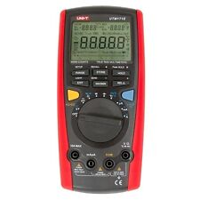 UNI-T UT71E Digital Multimeter Tester USB Auto Data Log Power Cord Socket AC DC