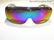 """New Large Size """"Fits Over"""" Sunglasses Color Mirror Lens 5083cm uv400"""
