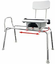 Snap-n-Save Sliding Shower Chair Bath transfer Bench w Cut Out Swivel Seat 77663